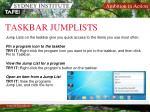 taskbar jumplists