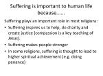 suffering is important to human life because