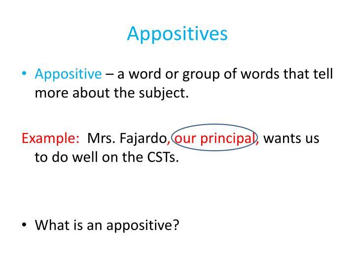 Appositives