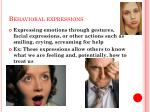 behavioral expressions