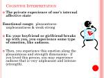 cognitive interpretation