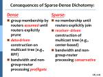 consequences of sparse dense dichotomy