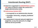 interdomain routing bgp