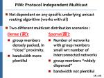 pim protocol independent multicast