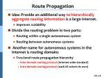 route propagation