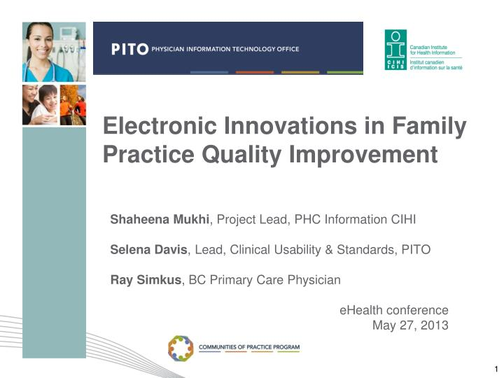 electronic innovations in family practice quality improvement n.