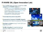 fi ware oil open innovation lab