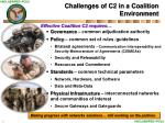 challenges of c2 in a coalition environment