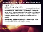 hormone production by ovaries