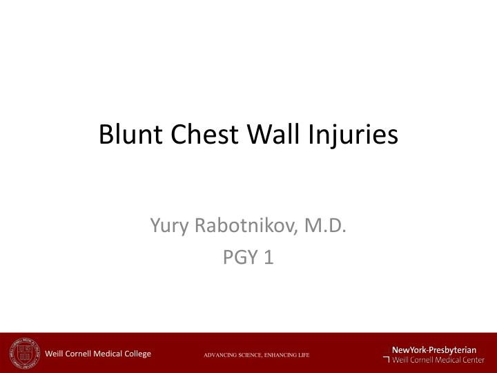 blunt chest wall injuries n.