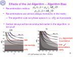 effects of the jet algorithm algorithm bias