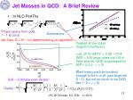 jet masses in qcd a brief review