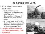 the korean war cont
