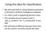using this idea for classification