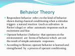behavior theory1