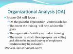 organizational analysis oa1