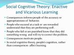 social cognitive theory enactive and vicarious learning1