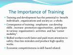 the importance of training2