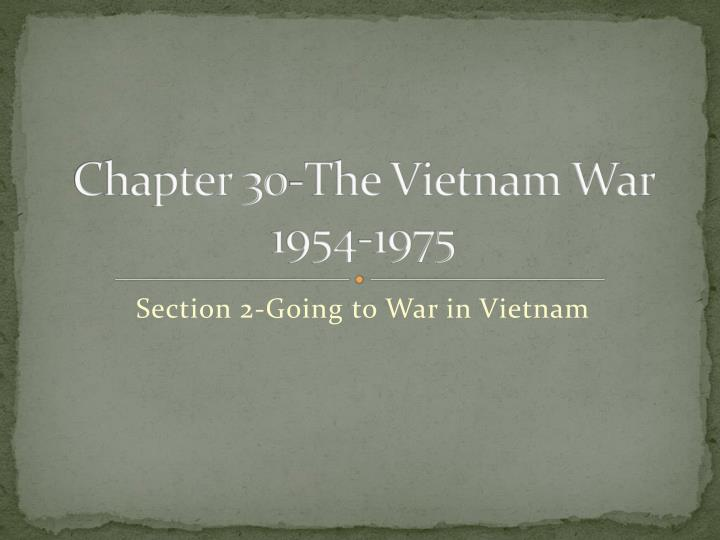 chapter 30 the vietnam war 1954 1975 n.