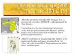 the han dynasty 202 b c e to 220 c e