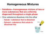 homogeneous mixtures