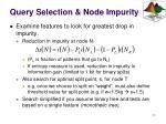 query selection node impurity1