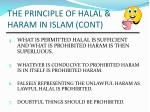 the principle of halal haram in islam cont
