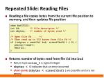 repeated slide reading files