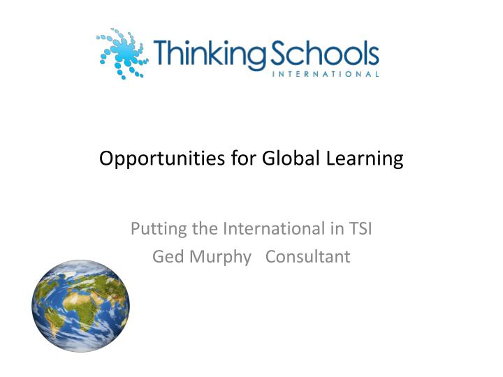 opportunities for global learning n.
