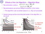 effects of the jet algorithm algorithm bias