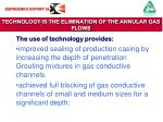 technology is the elimination of the annular gas flows