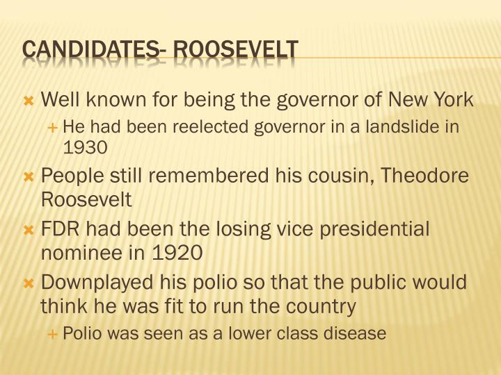 Well known for being the governor of New York