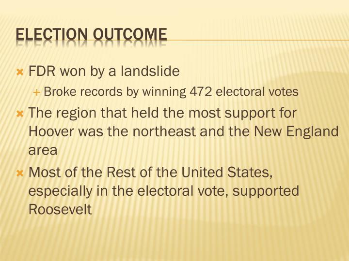 FDR won by a landslide