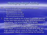 managing anger activity