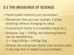 2 1 the measures of science11