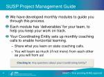 susp project management guide