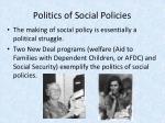 politics of social policies