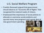 u s social welfare program