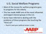 u s social welfare programs