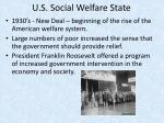 u s social welfare state