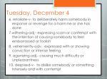 tuesday december 4