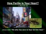 how fertile is your heart luke 8 4 15