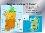 native speakers cont