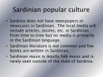 sardinian popular culture