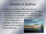 schools in sardinia