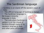 the sardinian language