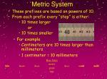 metric system