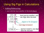 using sig figs in calculations