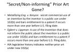 secret non informing prior art gone