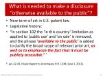 what is needed to make a disclosure otherwise available to the public